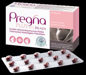 Pregna PLUSBEZ ŻELAZA dla kobiet w ciąży 30 kaps.